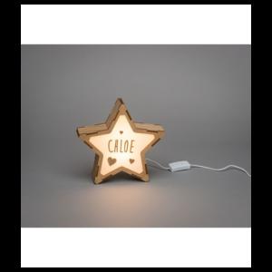 Lampe personnalisable lettres etoiles