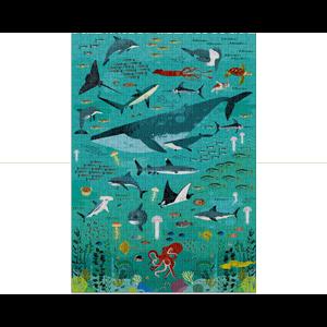 puzzle poisson océan 500 pièces Poppik