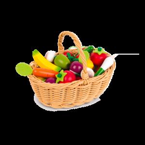 panier- fruits- legumes -bois- janod